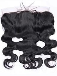 cheap -beikashang Brazilian Hair 4x13 Closure Wavy Free Part Swiss Lace Remy Human Hair Women's With Baby Hair / Soft / For Black Women Dailywear