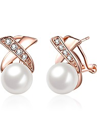 cheap -Stud Earrings Drop Ladies Fashion Imitation Pearl Earrings Jewelry Rose Gold For Wedding Daily
