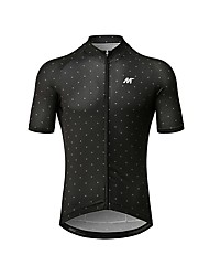 cheap -Mysenlan Men's Short Sleeve Cycling Jersey - Black Polka Dot Bike Jersey Polyester Taffeta / Micro-elastic / Italy Imported Fabric / Racing / Race Fit / Breathable Armpits