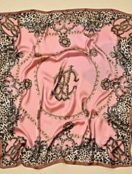 Недорогие -Жен. Активный Квадратная Искусственный шёлк, С принтом