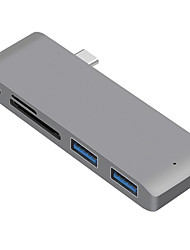cheap -USB 3.1 Type C to USB 3.1 USB Hub 5 Ports High Speed / with Card Reader(s)