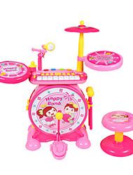 abordables -Batterie/Tambour set Mini Adorable Unisexe Garçon Fille Enfants Jouet Cadeau 2 pcs