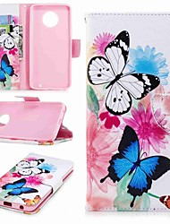 cheap -Case For Motorola Moto G5s Plus / Moto G5s / Moto G5 Plus Wallet / Card Holder / with Stand Full Body Cases Butterfly Hard PU Leather / Moto G4 Plus