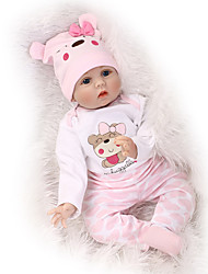 cheap -NPKCOLLECTION 22 inch NPK DOLL Reborn Doll Reborn Toddler Doll Newborn lifelike Cute Child Safe Non Toxic with Clothes and Accessories for Girls' Birthday and Festival Gifts / CE Certified