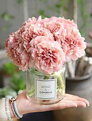 Недорогие -Искусственные Цветы 5 Филиал Свадьба Свадебные цветы Пионы Вечные цветы Букеты на стол