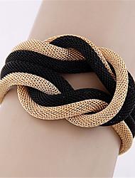 cheap -Women's Bracelet Love knot Twist Circle Ladies European Fashion Oversized Alloy Bracelet Jewelry Gold / Black / Gray For Daily Festival