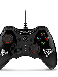 cheap -WE-888S Wired Game Controller For PC ,  Vibration Game Controller ABS 1 pcs unit