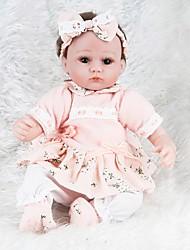 cheap -NPKCOLLECTION NPK DOLL Reborn Doll Girl Doll Baby Girl 18 inch Silicone - Newborn lifelike Cute Eco-friendly Gift Child Safe Kid's Unisex / Girls' Toy Gift / Non Toxic