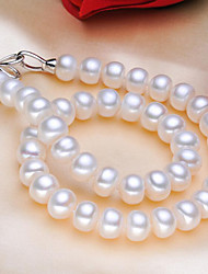 cheap -Women's Pearl Choker Necklace Bowknot Ladies Classic Natural Elegant Pearl S925 Sterling Silver White 45 cm Necklace Jewelry For Party Gift