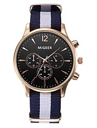 cheap -Men's Women's Casual Watch Fashion Watch Quartz Black / White / Blue 30 m Chronograph Analog Elegant - Blue Black / White Black / Blue One Year Battery Life / Stainless Steel / SSUO LR626