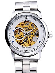 cheap -Men's Dress Watch Skeleton Watch Automatic self-winding Classic Chronograph Analog Gold / Stainless Steel / Stainless Steel / Japanese / Japanese