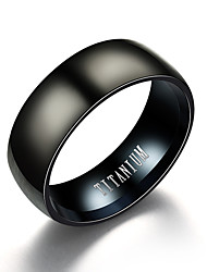 cheap -Men's Band Ring Black Titanium Steel Tungsten Steel Steel Stainless Circle Vintage Initial Daily Evening Party Jewelry