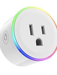 Недорогие -Розетка / Smart Plug Функция синхронизации / Диммируемая / Прост в применении 1шт ABS + PC / 750 ° С / анти-огнестойкий ПРИЛОЖЕНИЕ / Andriod 4.2 Выше / IOS8.0 Выше Amazon Alexa Echo / Google