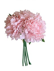 cheap -Artificial Flowers 5 Branch Wedding Flowers Pastoral Style Peonies Eternal Flower Tabletop Flower