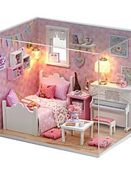 abordables -Maison de Poupées Adorable A Faire Soi-Même Fait à la main Meuble Maison Créatif En bois 1 pcs Enfant Adultes Fille Jouet Cadeau