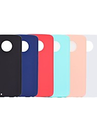 cheap -Phone Case For Motorola Back Cover Moto G5 Plus Moto G5 Frosted Solid Color Soft TPU