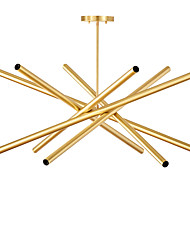 cheap -12 Bulbs ZHISHU 90 cm Mini Style Chandelier Metal Sputnik Brass Nature Inspired / Country 110-120V / 220-240V