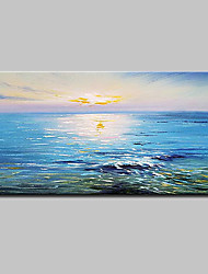 cheap -Mintura® Hand Painted Modern Abstract Sunrise Landscape Oil Paintings On Canvas Wall Art Picture For Home Decoration Ready To Hang
