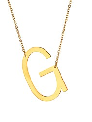 cheap -Men's Pendant Necklace Monogram Name Alphabet Shape Letter Fashion Stainless Steel Gold Black Silver 51 cm Necklace Jewelry For Gift Daily