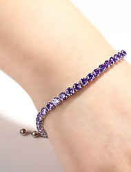 cheap -Women's Burgundy Charm Bracelet Tennis Bracelet Alloy Bracelet Jewelry Purple / Silver / Green For Daily