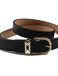 cheap -Women's Work Leather / Alloy Skinny Belt - Solid Colored / All Seasons