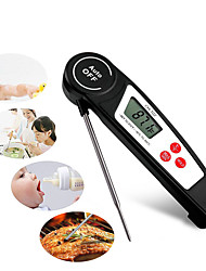 cheap -BBQ Thermometer Waterproof Portable Folding Stainless Steel + A Grade ABS 304 stainless steel for Outdoor Hiking Camping White Black Orange