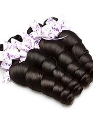 cheap -4 Bundles Indian Hair Loose Wave Human Hair Unprocessed Human Hair Natural Color Hair Weaves / Hair Bulk Hair Care Extension 8-28 inch Natural Color Human Hair Weaves Cosplay Hot Sale Thick Human