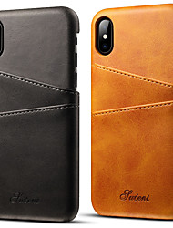 cheap -Phone Case For Apple Back Cover Leather iPhone 12 Pro Max 11 Pro Max iPhone X iPhone 8 iPhone 7 Plus iPhone 7 iPhone 6s Plus iPhone 6s iPhone 6 Plus iPhone 6 Card Holder Solid Color Hard PU Leather
