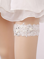 cheap -Lace Classic Jewelry / Lace Wedding Garter With Rhinestone / Floral / Gore Garters Wedding / Party & Evening