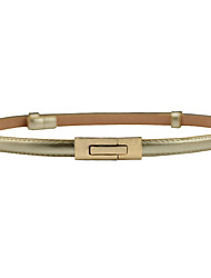 cheap -Women's Active / Street chic Leather / Alloy Skinny Belt