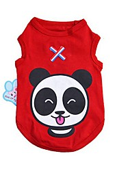 cheap -Dog Cat Pets Vest Simple Stars Bear Sports & Outdoors Casual / Daily Dog Clothes Red Blue Pink Costume Cotton / Polyester XS S M L XL