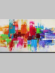cheap -Mintura® Hand Painted Modern Abstract Color Piece Oil Painting On Canvas Wall Art Picture For Home Decoration Ready To Hang