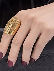 cheap -Women's Statement Ring Gold Gold Plated Geometric Ladies Fashion Dubai Party Gift Jewelry Geometrical filigree