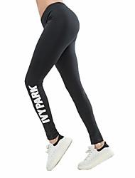 Недорогие -Жен. Штаны для йоги Хлопок Zumba Бег Фитнес Велоспорт Колготки Спортивная одежда Дышащий Быстровысыхающий Для тренировки Power Flex 4-сторонняя растяжка Эластичность
