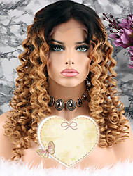 cheap -Remy Human Hair Lace Front Wig Layered Haircut Beyonce style Brazilian Hair Curly Blonde Wig 130% Density with Baby Hair Women's Short Medium Length Long Human Hair Lace Wig Luckysnow