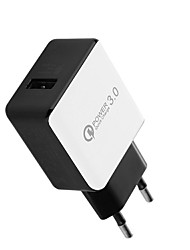 cheap -Dock Charger USB Charger EU Plug / USB QC 3.0 1 USB Port 2 A DC 12V-24V for