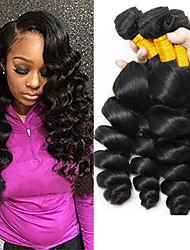 cheap -4 Bundles Indian Hair Wavy Human Hair 400 g Natural Color Hair Weaves / Hair Bulk Human Hair Extensions 8-28 inch Natural Color Human Hair Weaves Best Quality Hot Sale For Black Women Human Hair / 8A