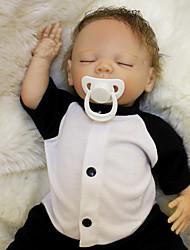 Недорогие -OtardDolls Куклы реборн Мальчики 18 дюймовый Силикон - Новорожденный как живой Экологичные Подарок Безопасно для детей Non Toxic Детские Мальчики Игрушки Подарок / CE / Головка дискеты
