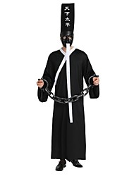 cheap -Angel / Devil Costume Unisex Halloween Halloween Day of the Dead Festival / Holiday Polyster Outfits Black Solid Colored Halloween