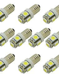 cheap -1W LED Bulb E10 Screw Base for Torch Light Signal Bulb Car Interior Light DC 12V Warm White / Cold White (10 Pcs)