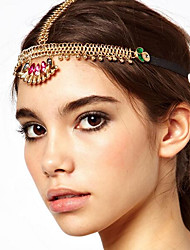 cheap -Women's Bohemian Ethnic Alloy Crystal Head Jewelry forehead jewelry Party Holiday - Color Block