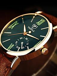 Недорогие -Муж. Нарядные часы Наручные часы Кварцевый Кожа Коричневый 30 m Фосфоресцирующий Аналоговый Классика На каждый день минималист - Черный Синий Темно-зеленый Один год Срок службы батареи / SSUO 377