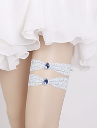 cheap -Lace Classic Jewelry / Vintage Style Wedding Garter With Crystals / Rhinestones Garters Wedding / Party & Evening