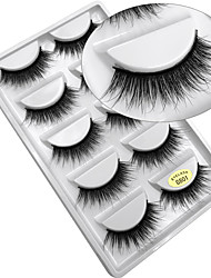 cheap -Eyelash Extensions False Eyelashes 10 pcs Professional Volumized Curly Extra Long Animal wool eyelash Daily Natural Long - Makeup Daily Makeup Halloween Makeup Party Makeup Professional High Quality