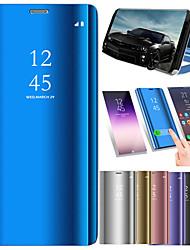cheap -Case For Xiaomi Xiaomi Redmi Note 5A / Xiaomi Redmi Note 5 Pro / Xiaomi Redmi Note 4X with Stand / Plating / Mirror Full Body Cases Solid Colored Hard PU Leather