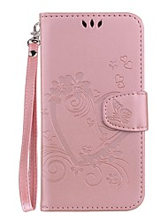 cheap -Case For Huawei Huawei Honor 9 Lite / Huawei Enjoy 7S Card Holder / with Stand / Flip Full Body Cases Heart Hard PU Leather