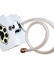Недорогие -Собаки Вода и корм 8 L Пластиковые & Металл Чехол в комплекте Фонтан Микро-спрей Footprint / Paw Белый Чаши и откорма