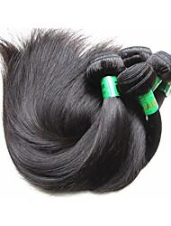 cheap -10 Bundles Indian Hair Straight Virgin Human Hair Remy Human Hair Human Hair Extensions Natural Color Human Hair Weaves Soft Smooth For Black Women Human Hair Extensions / 10A