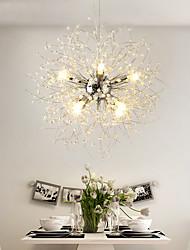 cheap -8-Light Modern Electroplated Globe Chandeliers Firework Led Vintage Pendant Lights Living Room Dining Room G9 Bulb Base