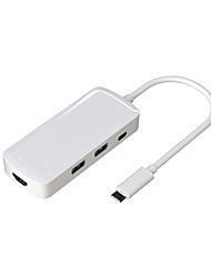 cheap -USB 3.0 Type C to USB 3.0 / USB 3.0 Type C USB Hub 4 Ports High Speed